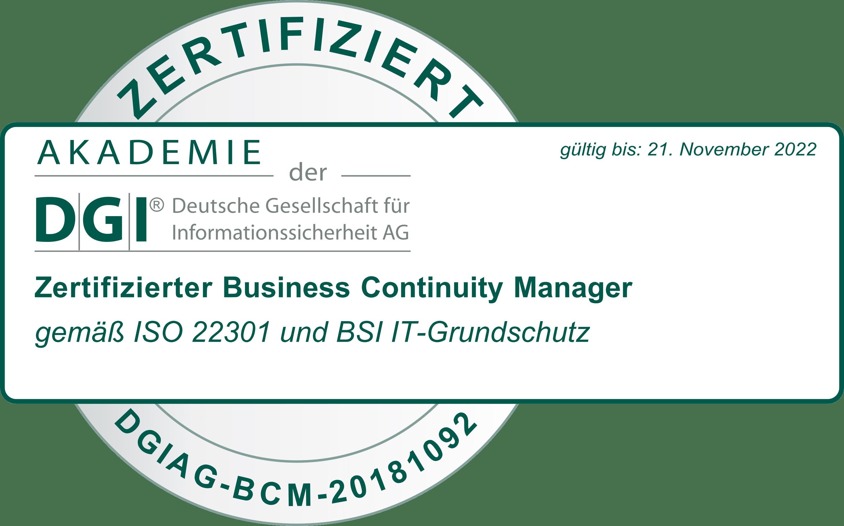 Torben Bues ist zertifizierter BC Manager